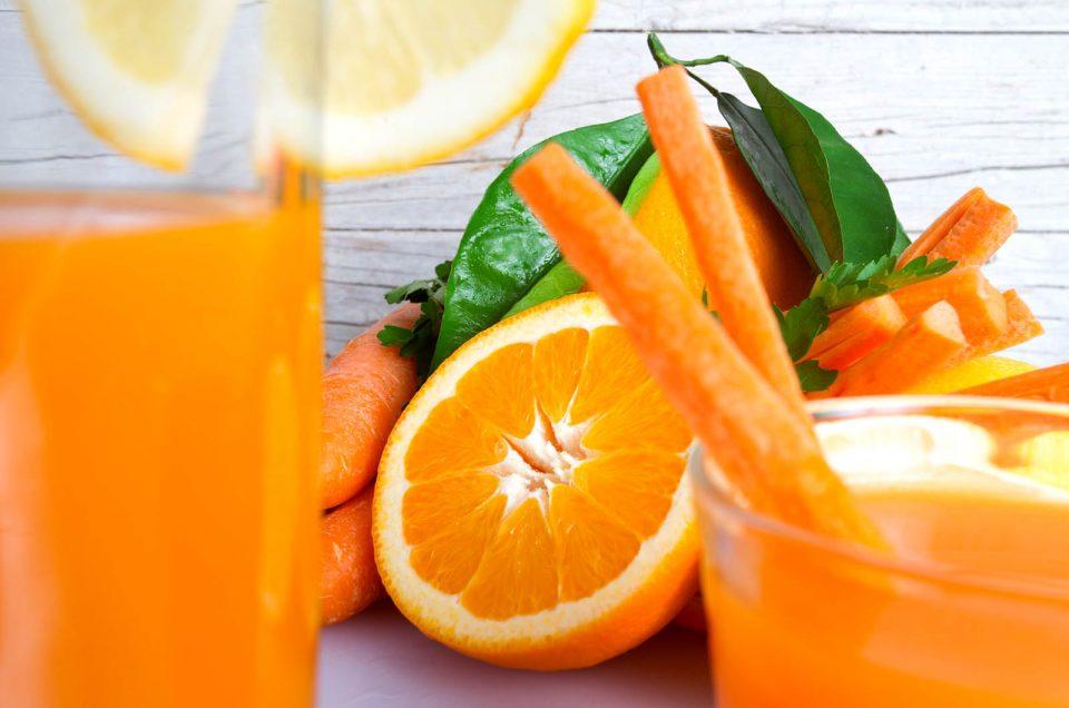 Arancia Carota Limone frullati